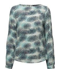 blouse blus långärmad grön ilse jacobsen