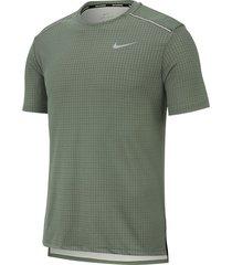 camiseta de hombre m nk miler tech top ss nike verde