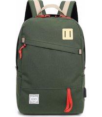 mochila verde zom