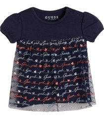 blue jersey embroidery t-shirt