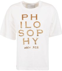 philosophy di lorenzo serafini logo embellished t-shirt