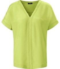 blouse v-hals en verlaagde schoudernaden van basler groen