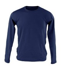 blusa térmica masculina segunda pele thermo premium original slim fit - azul marinho