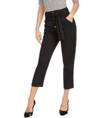 guess tianna high-waist capri pants