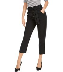 guess tianna high-waist capri pants