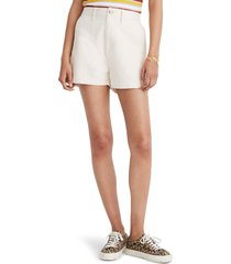 women's madewell camp shorts, size medium - beige