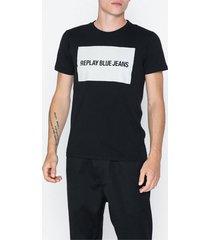 replay t-shirt t-shirts & linnen svart
