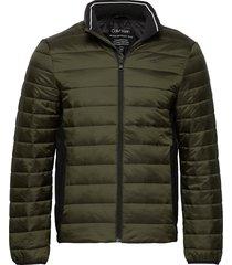 light weight side logo jacket fodrad jacka grön calvin klein