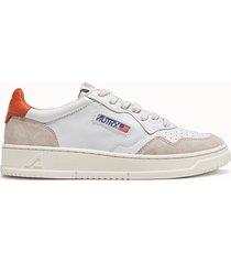 sneakers autry 01 low colore bianco arancione
