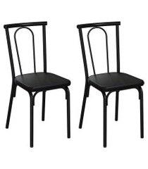 conjunto com 2 cadeiras albury preto