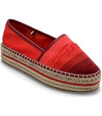 tommy gradient espadrille sandaletter expadrilles låga röd tommy hilfiger