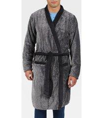 pyjama's / nachthemden admas for men badjas zigzag antonio miro grijs admas