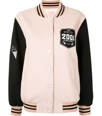 bapy by *a bathing ape® colour blocked varsity jacket - pink