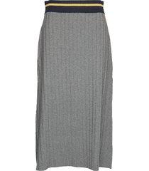 alette knit skirt lång kjol grå morris lady