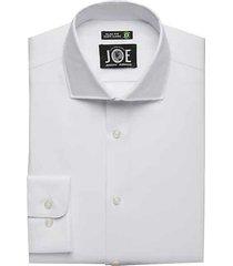 joe joseph abboud men's repreve® white slim fit dress shirt - size: 16 32/33
