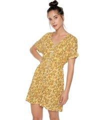 vestido amarillo-dorado paris district