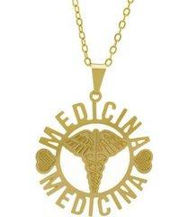 gargantilha horus import medicina banhada ouro 18k feminina