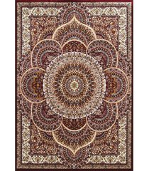 "asbury looms antiquities sarouk 1900 01239 33 burgundy 2'7"" x 3'11"" area rug"
