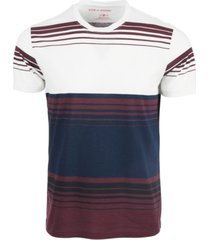 sun + stone men's gradient blocked striped t-shirt, created for macy's