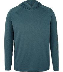 wolverine men's sun-stop pullover hoody dark navy heather, size m