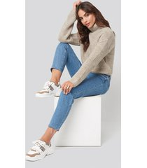 hannalicious x na-kd chunky burdock detailed sneakers - white,beige