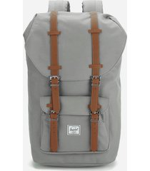 herschel supply co. little america backpack - grey/tan synthetic leather