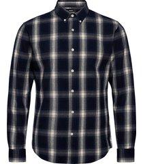 gridlock check sawsett skjorta casual svart mads nørgaard