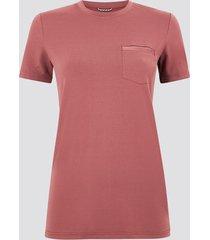 sportig t-shirt med bröstficka - röd