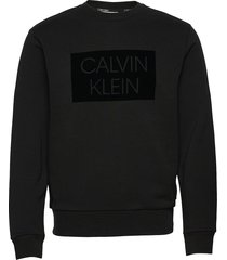 flock box logo sweatshirt sweat-shirt trui zwart calvin klein
