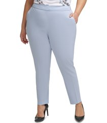 calvin klein plus size elastic-back slim-leg pants