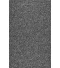 nuloom festival braided lefebvre charcoal 5' x 8' area rug