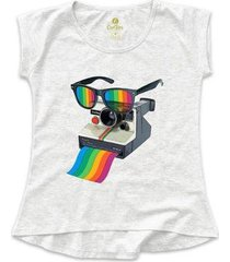 camiseta cool tees camera pride vision feminina - feminino