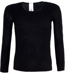 camiseta trifil segunda pele manga longa preta