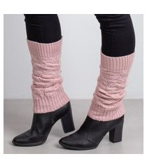 polaina de tricô sumaré 31072 rosa