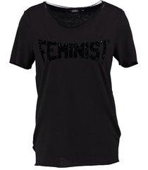 vero moda stevig zacht zwart long shirt