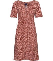 d2. summer floral dress jurk knielengte roze gant