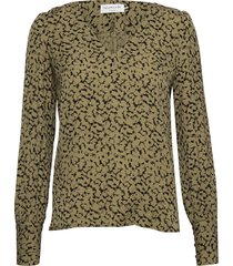 blouse ls blus långärmad grön rosemunde