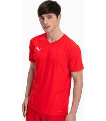 liga core shirt voor heren, wit/rood, maat xl   puma