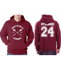 stilinski 24 teen stiles stilinski cross beacon hills lacrosse maroon hoodie