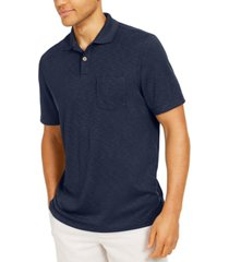 tasso elba island men's solid pocket polo shirt, created for macy's