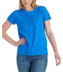 lucky brand applique t-shirt