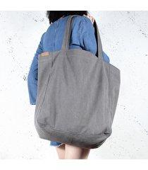big lazy bag torba grafitowa na zamek / vegan