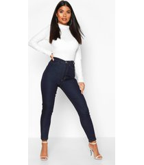 petite donkere stretch skinny jeans, donkerblauw