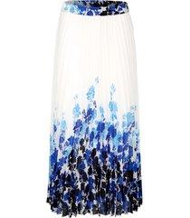 plisserad kjol delmod benvit::blå