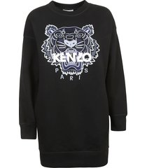 kenzo signature tiger embroidered robe