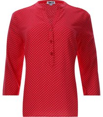 blusa estampada pepas color rojo, talla xs