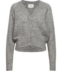 brook knit boxy cardigan stickad tröja cardigan grå second female