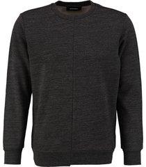 diesel zachte donkergrijze sweater