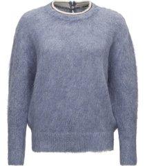 brunello cucinelli sweater with monile embellishment