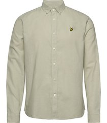 cotton linen shirt overhemd casual groen lyle & scott